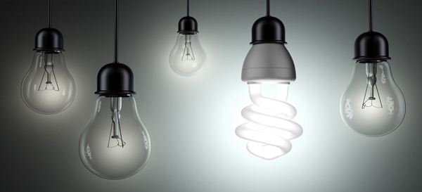 Energy saving and simple light bulbs